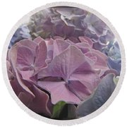 Dream Hydrangeas Round Beach Towel