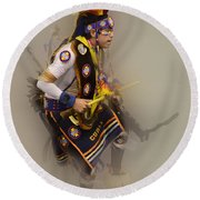 Pow Wow Dream Time Round Beach Towel