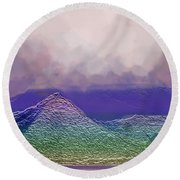 Dreaming In Technicolor Round Beach Towel