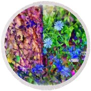Dreaming Night And Day Round Beach Towel