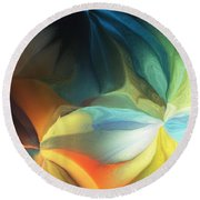 Dreaming Night Blooms 2 Round Beach Towel