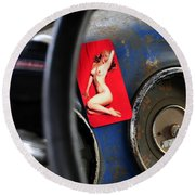 Dreaming Of Marilyn  Round Beach Towel