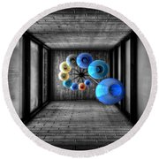 Dreams Of Shade And Light Round Beach Towel