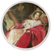 Dreams Round Beach Towel by Stefani Melton Fisher