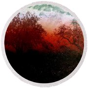 Dreamscape Sunset - Abstract Round Beach Towel