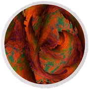 Dreamscapes Round Beach Towel by Christohper Gaston