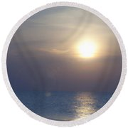 Dreamy September Sunrise Round Beach Towel