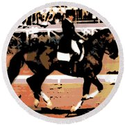Dressage Competition Round Beach Towel