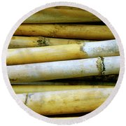 Dried Canes Round Beach Towel
