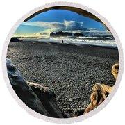 Drift Wood Frame Round Beach Towel
