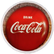 Drink Coca-cola Round Beach Towel
