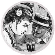 Drinking, 1875 Round Beach Towel