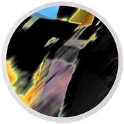 Drive By Abstract Round Beach Towel