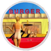 Drive-in Round Beach Towel