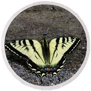 Driveway Butterfly Round Beach Towel