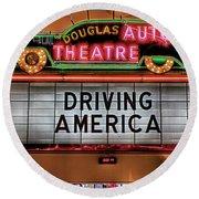 Driving America Douglas Auto Theatre Round Beach Towel