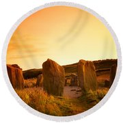 Drombeg Stone Circle, Near Glandore, Co Round Beach Towel