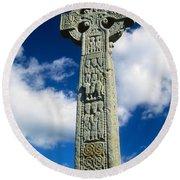 Drumcliffe, County Sligo, Ireland High Round Beach Towel
