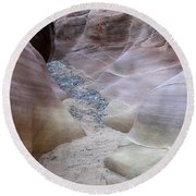 Dry Creek Bed 3 Round Beach Towel by Bob Christopher