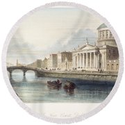 Dublin, 1842 Round Beach Towel