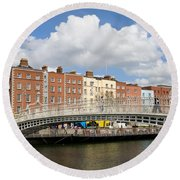 Dublin Scenery Round Beach Towel