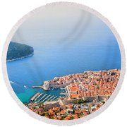 Dubrovnik Aerial View Round Beach Towel