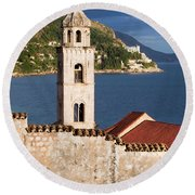 Dubrovnik Architecture Round Beach Towel