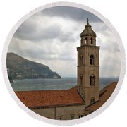 Dubrovnik View 3 Round Beach Towel