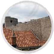 Dubrovnik View 4 Round Beach Towel