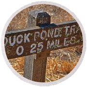Duck Pond Trail Round Beach Towel