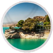 Duke House In El Chorro Lake District. Spain Round Beach Towel