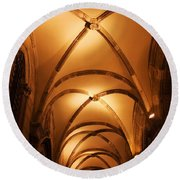 Duke's Palace Arched Ceiling Round Beach Towel