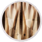Dulcimer Abstract Round Beach Towel