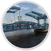 Duluth Draw Bridge 1 C Round Beach Towel