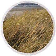 Dune Grass On The Oregon Coast Round Beach Towel