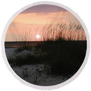 Dune Sunset Round Beach Towel