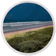 Dunes And Ocean Divided Round Beach Towel