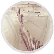 Dunes On The Cape Round Beach Towel