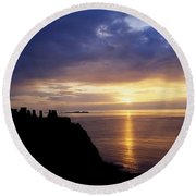 Dunluce Castle At Sunset, Co Antrim Round Beach Towel