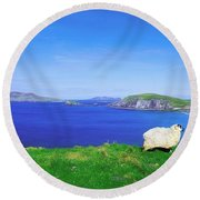 Dunmore Head, Blasket Islands, Dingle Round Beach Towel