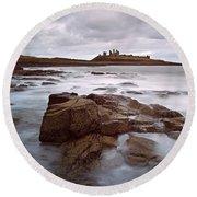 Dunstanburgh Castle II Round Beach Towel