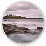 Dunstanburgh Castle IIi Round Beach Towel