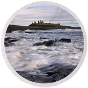 Dunstanburgh Castle Iv Round Beach Towel