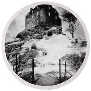 Duntroon Castle Round Beach Towel by Simon Marsden