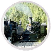 Durango Silverton Steam Locomotive Round Beach Towel