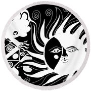 Dusk Dancer - Inverted Round Beach Towel