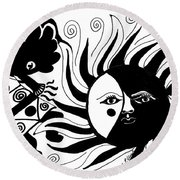Dusk Dancer Round Beach Towel