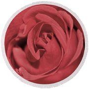 Dusty Rose Round Beach Towel