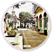 Dutch Alley  Round Beach Towel