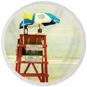 Duty Time Round Beach Towel